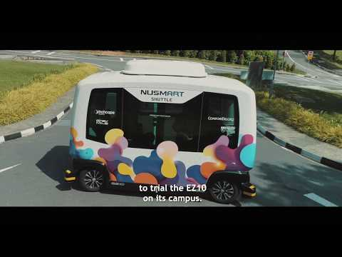 NUSmart Shuttle (EasyMile EZ10) Begins Passenger Service Trial at NUS
