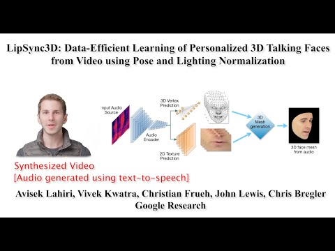 LipSync3D: Personalized 3D Talking Faces from Video using Pose and Lighting Normalization