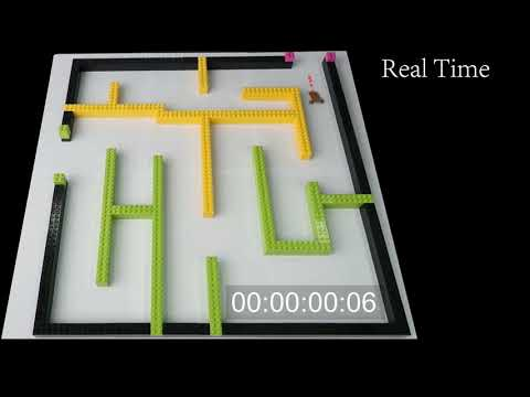 Insect-sized robot solves a Lego maze in seconds