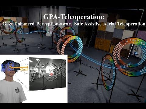 GPA-Teleoperation: Gaze Enhanced Perception-aware Safe Assistive Aerial Teleoperation