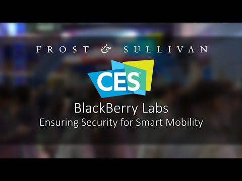 BlackBerry CES 2020, AI based Cybersecurity for Smart Mobility