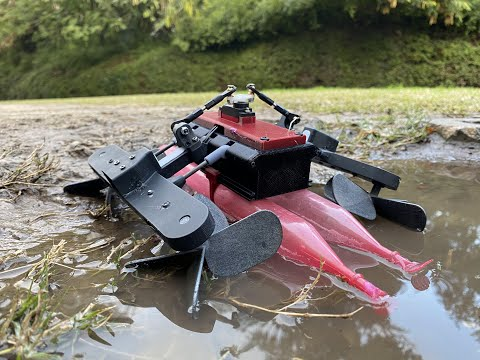 Amphibious STAR is a high speed robot capable of crawling over land and hovering over water