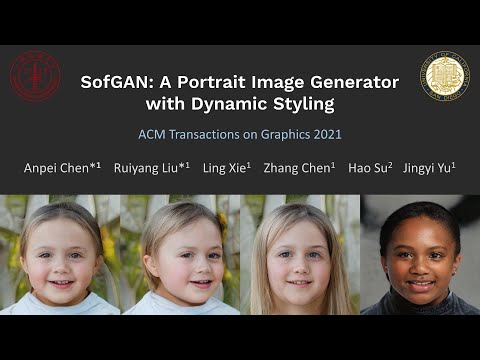 [TOG 2021] SofGAN: A Portrait Image Generator with Dynamic Styling